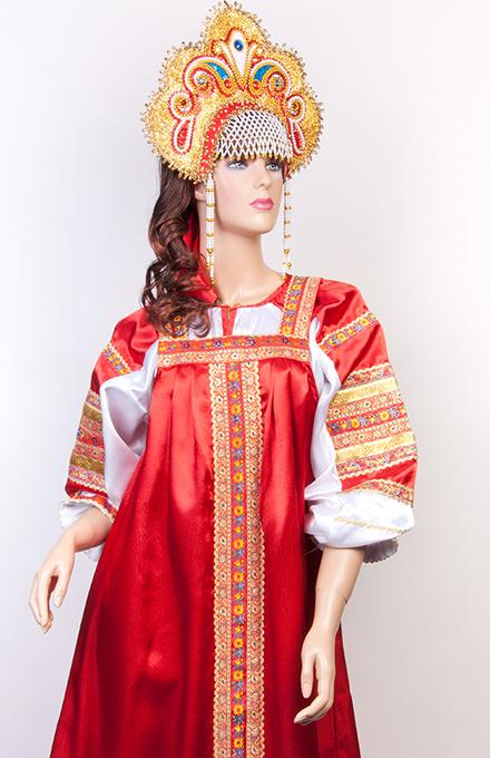 Сшить русский народный костюм для девушки
